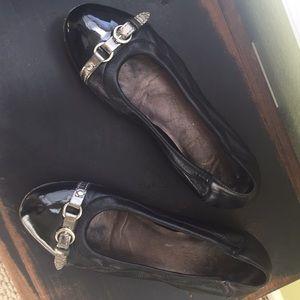 AGL cap toe black flats size 7 (euro 37)
